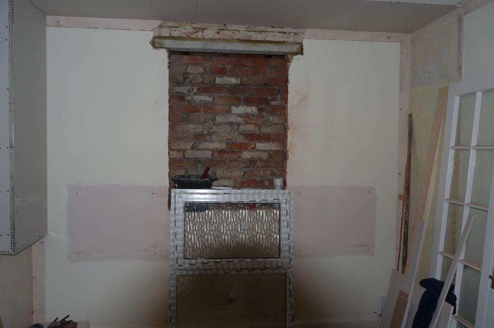 Inside wall removed and lintel in place