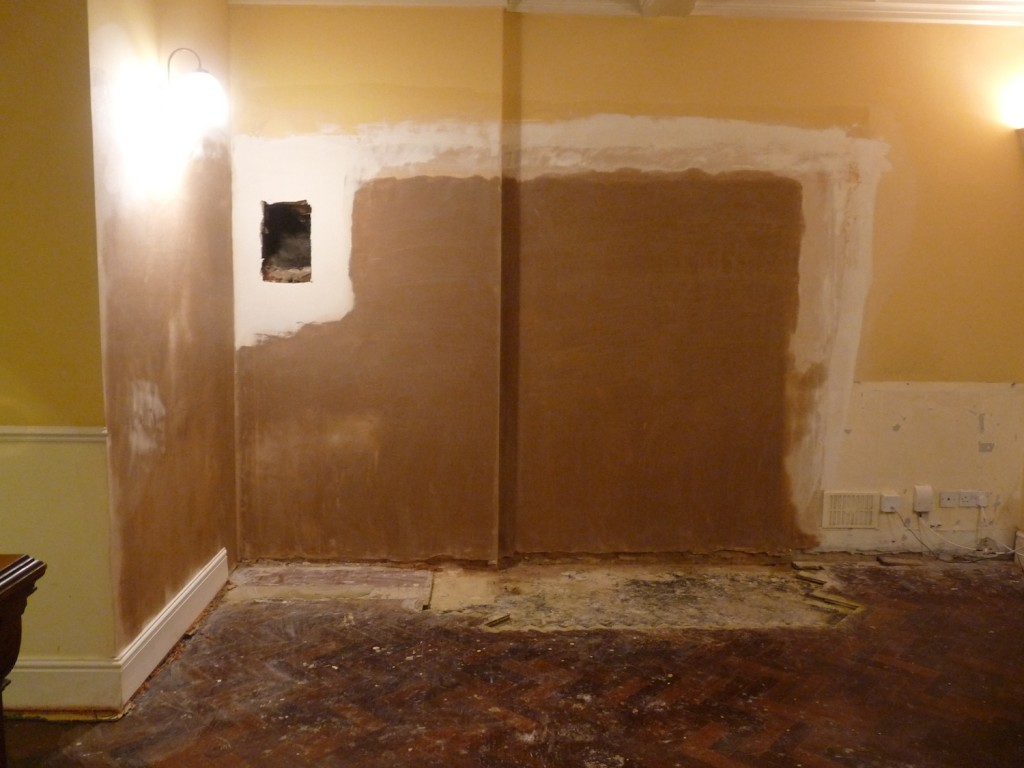 Plastering complete
