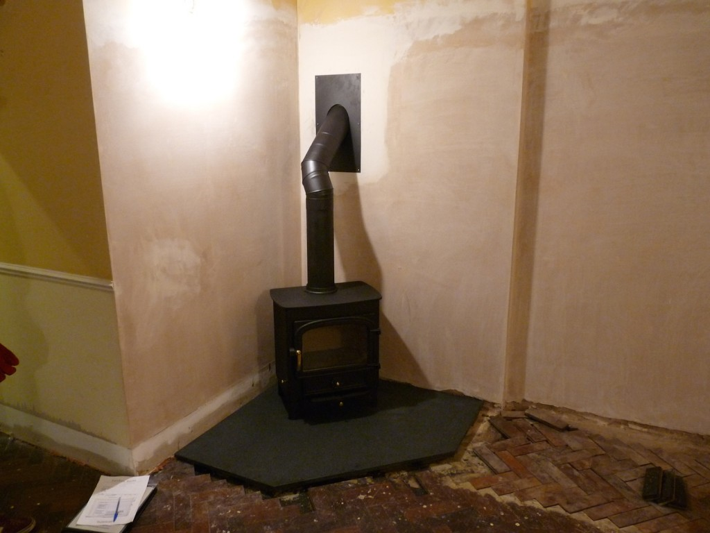 Stove in place