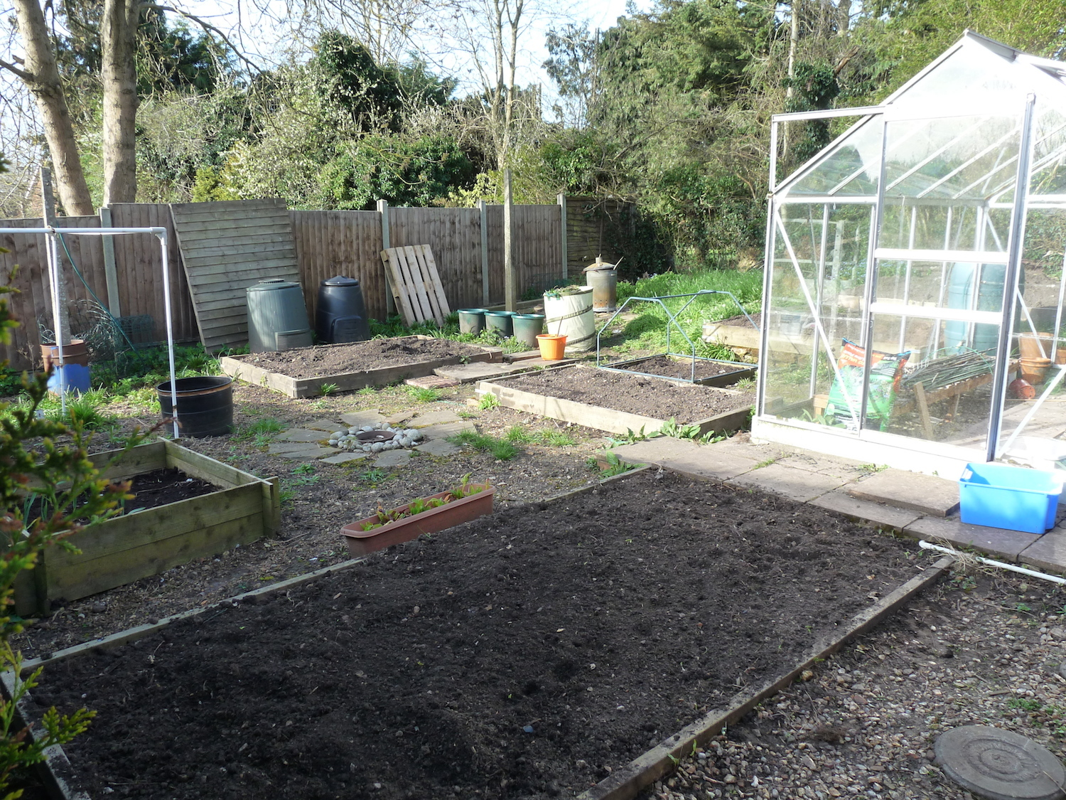 Veggie patch dug over and ready for planting